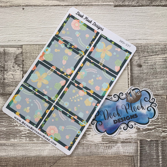 Floral full box stickers  (DPD337)