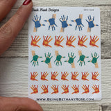 Painted hand  planner stickers (DPD548)