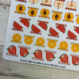 Five a day sticker set for Erin Condren, Plum Paper, Filofax, Kikki K (DPD201)
