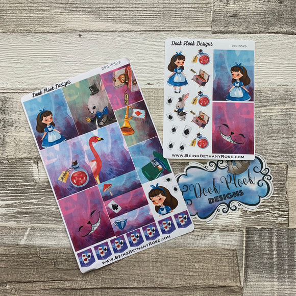Water colour Alice sticker set (Vertical) (DPD552)