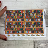 Library/book shelf stickers for Erin Condren, Plum Paper, Filofax, Kikki K (DPD651)