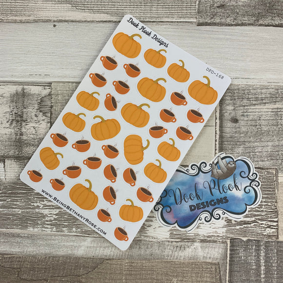 Pumpkin spice coffee stickers (DPD168)