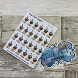 Birthday Pug stickers (DPD1321)