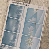 Winter scenery full box stickers for Erin Condren (DPD340)