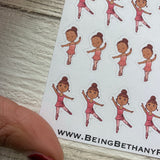 Baby Ballet stickers - Black (DPD617a)