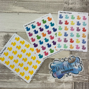 Rubber duck stickers (DPD174abc)