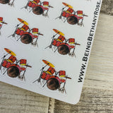 Water colour drum kit stickers (DPD336)