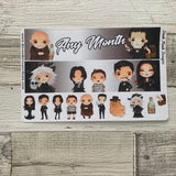 Scary family (can change month) Monthly View Kit for the Erin Condren Planners
