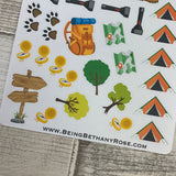 Camping (Tent or Caravan) stickers (DPD283-284)