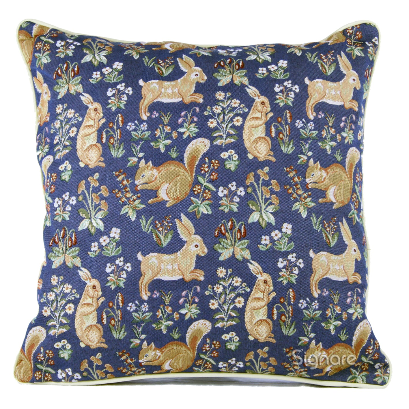 CCOV-FORE | FOREST BLUE PILLOWCASE/CUSHION COVER | DECORATIVE DESIGN FASHION HOME PILLOW 18X18 INCH - www.signareusa.com
