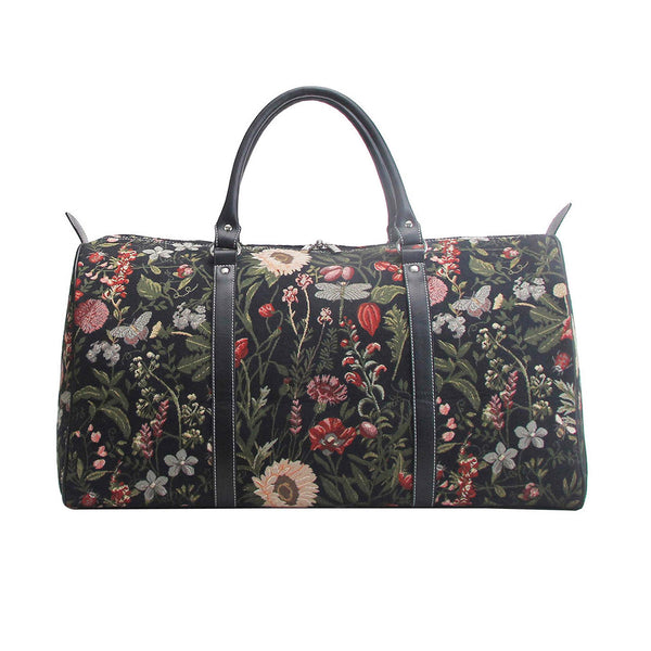 BHOLD-MGDBK | Morning Garden Black Big Holdall/Duffel Bag - www.signareusa.com