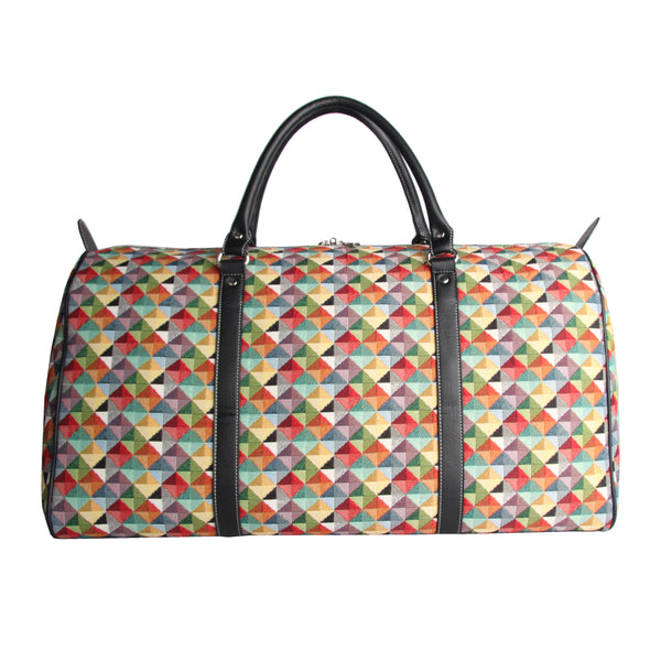 BHOLD-MTRI | Multicolor Triangle Big Holdall/Duffel Bag - www.signareusa.com