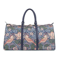 BHOLD-STBL | William Morris Strawberry Thief Blue Big Holdall/Duffel Bag - www.signareusa.com