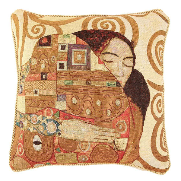 CCOV-ART-KLIMT-3 | Gustav Klimt Tree of Life Kiss Pillowcase/CUSHION COVER | DECORATIVE DESIGN FASHION HOME PILLOW 18X18 INCH - www.signareusa.com