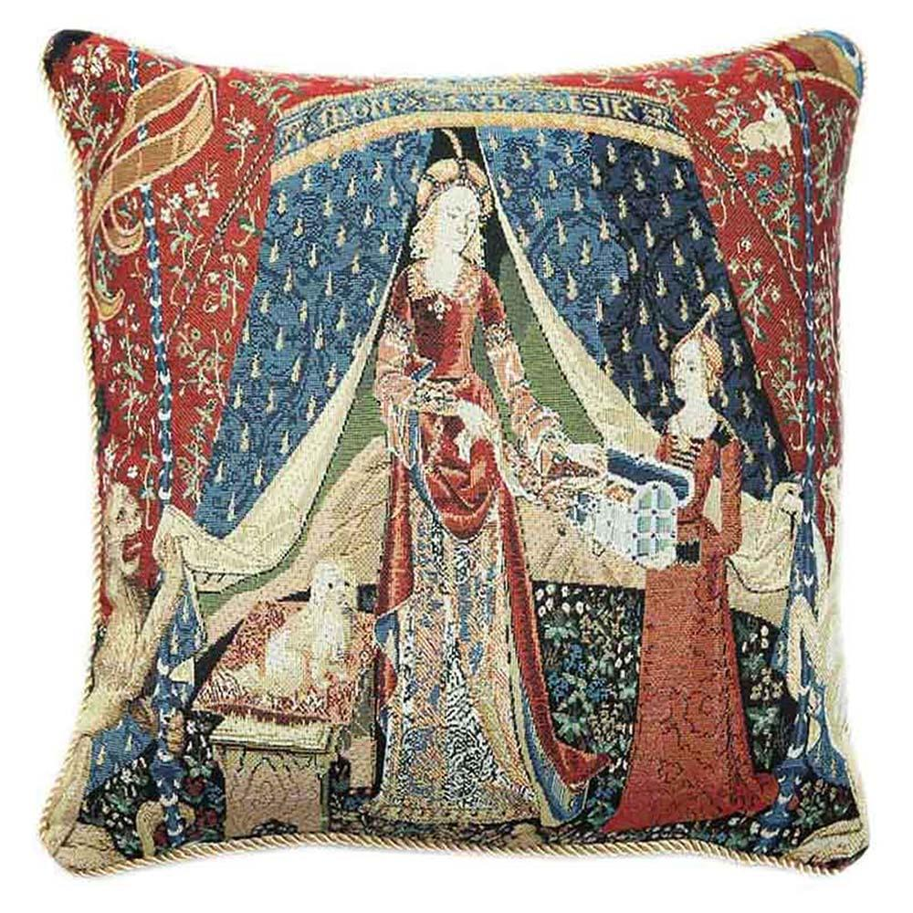 CCOV-ART-LU-DE | LADY AND UNICORN Pillowcase/CUSHION COVER | DECORATIVE DESIGN FASHION HOME PILLOW 18X18 INCH - www.signareusa.com
