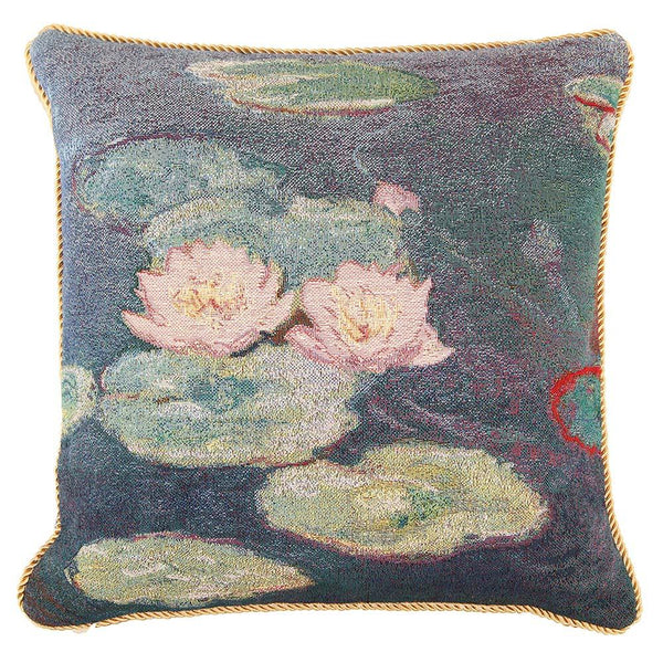 CCOV-ART-MONET-2 | CLAUDE MONET WATER LILIES Pillowcase/CUSHION COVER | DECORATIVE DESIGN FASHION HOME PILLOW 18X18 INCH - www.signareusa.com