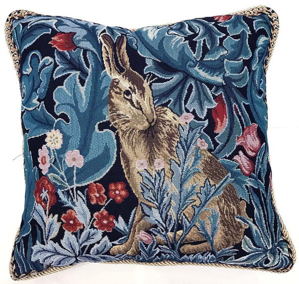 CCOV-ART-MORRIS-4 | WILLIAM MORRIS THE HARE PILLOWCASE/CUSHION COVER | DECORATIVE DESIGN FASHION HOME PILLOW 18X18 INCH - www.signareusa.com