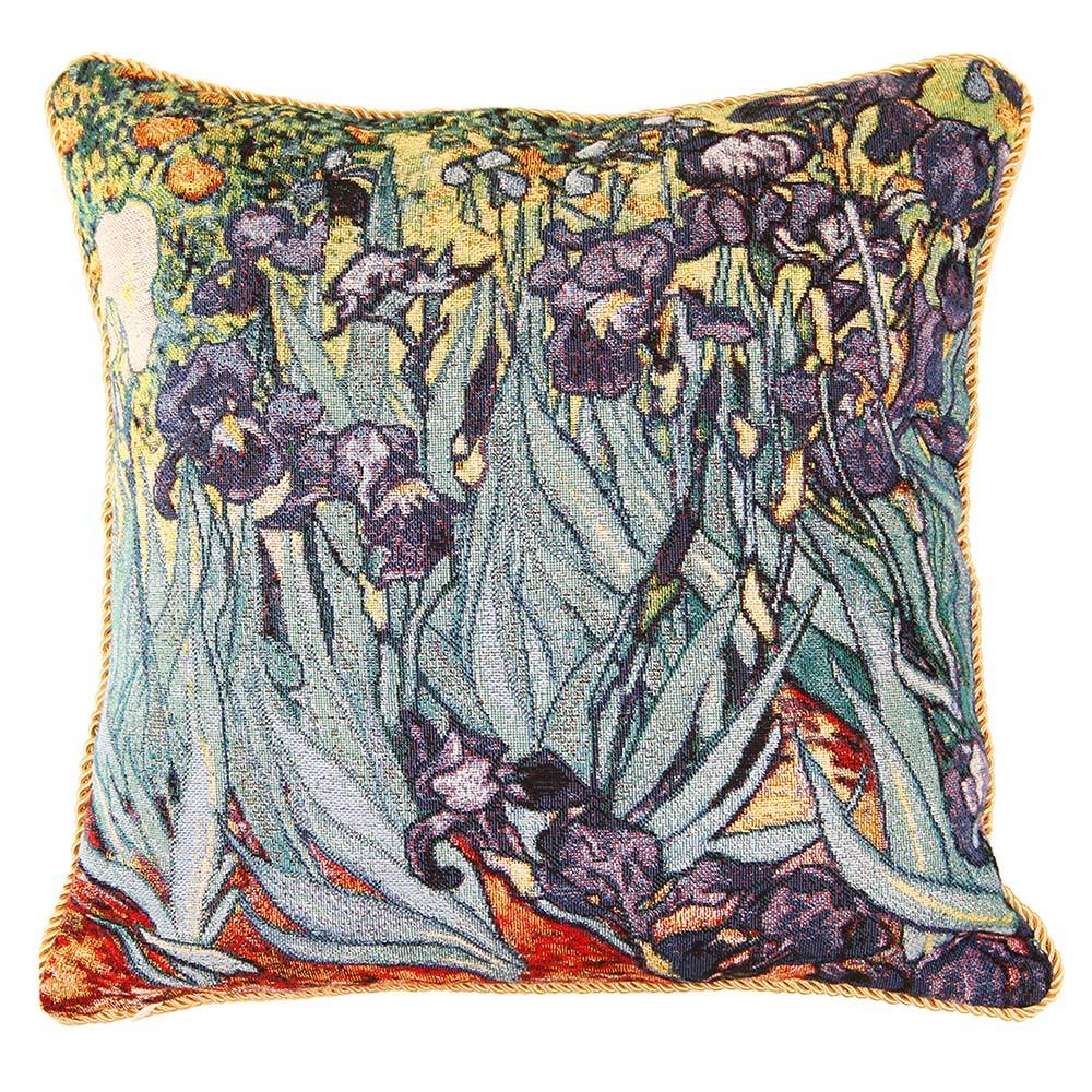 CCOV-ART-VANGOGH-2 | VAN GOGH IRIS PILLOWCASE/CUSHION COVER | DECORATIVE DESIGN FASHION HOME PILLOW 18X18 INCH - www.signareusa.com