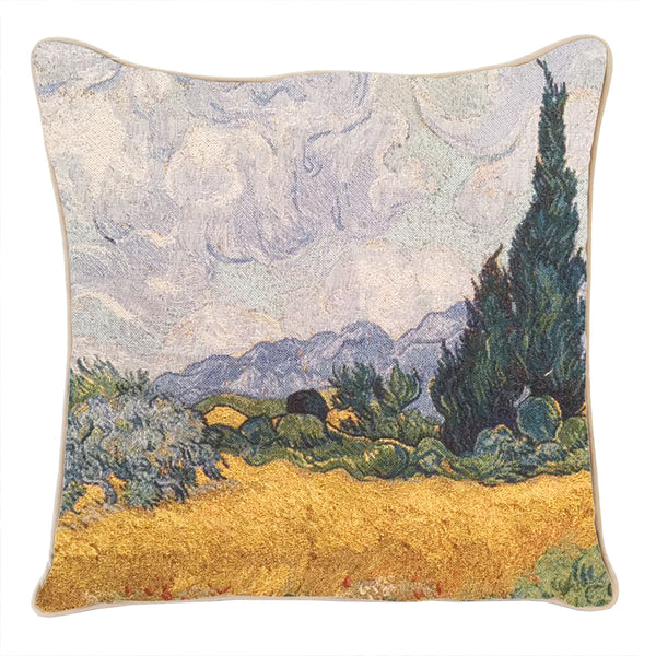 CCOV-ART-VG-WHEAT| VAN GOGH A WHEATFIELD PILLOWCASE/CUSHION COVER  18X18 INCH - www.signareusa.com