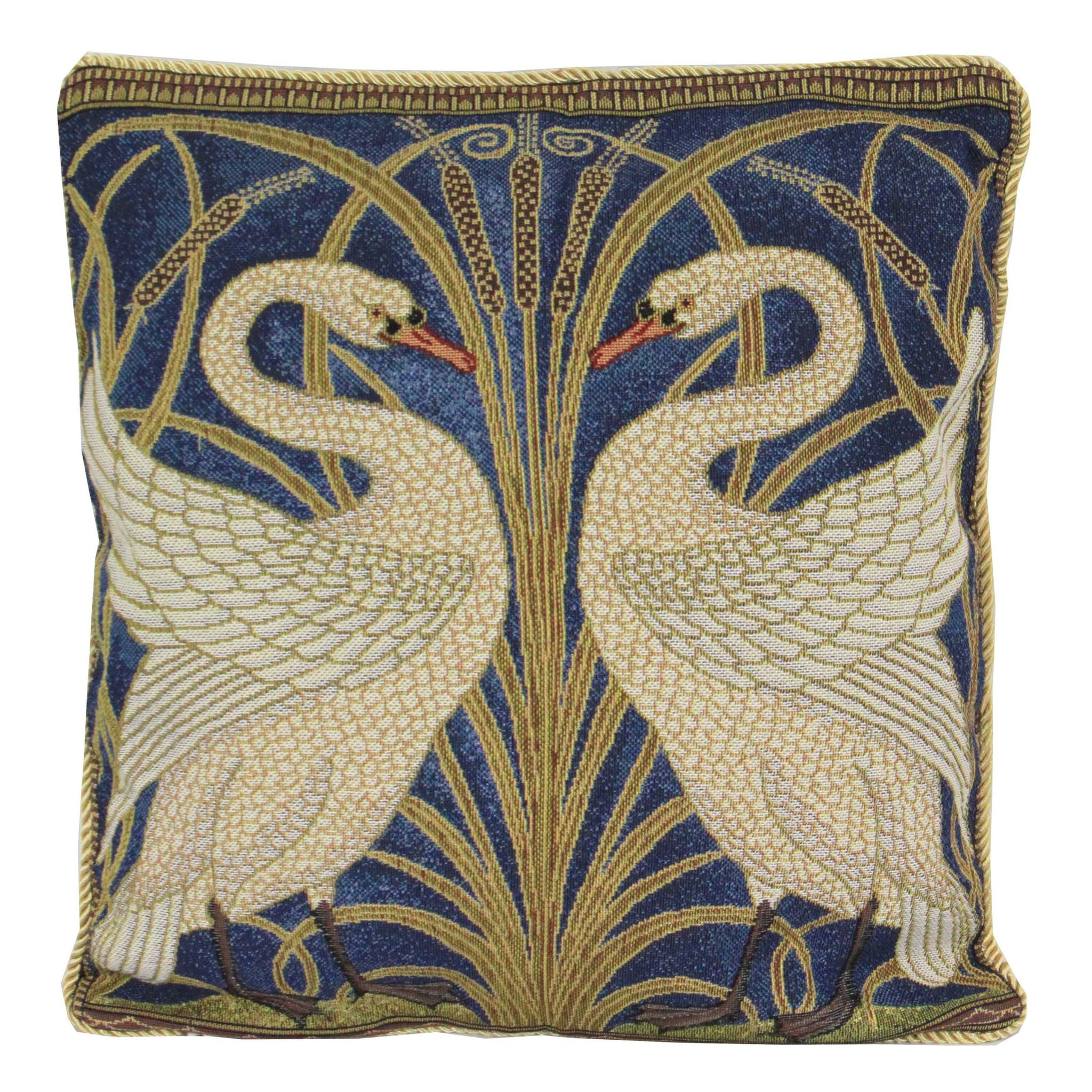 CCOV-ART-WC-SWAN | WALTER CRANE SWAN PILLOWCASE/CUSHION COVER | DECORATIVE DESIGN FASHION HOME PILLOW 18X18 INCH - www.signareusa.com