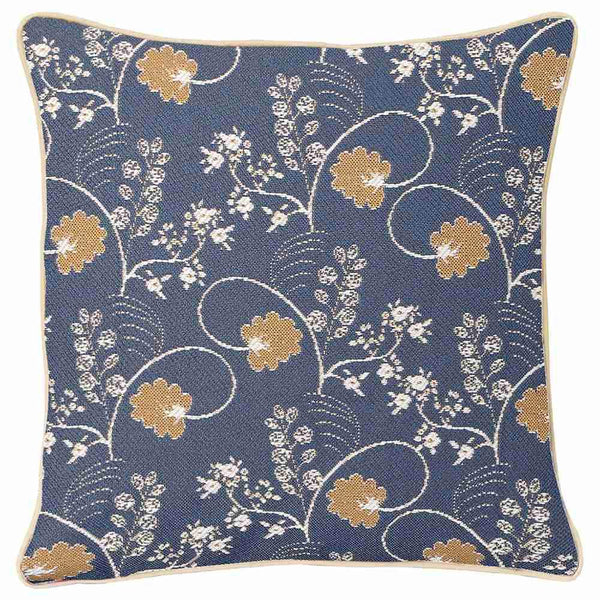 CCOV-AUST | JANE AUSTEN BLUE PILLOWCASE/CUSHION COVER | DECORATIVE DESIGN FASHION HOME PILLOW 18X18 INCH - www.signareusa.com