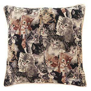 CCOV-CAT | CAT PILLOWCASE/CUSHION COVER | DECORATIVE DESIGN FASHION HOME PILLOW 18X18 INCH - www.signareusa.com