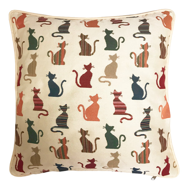 CCOV-CHEKY | CHEEKY CAT PILLOWCASE/CUSHION COVER | DECORATIVE DESIGN FASHION HOME PILLOW 18X18 INCH - www.signareusa.com