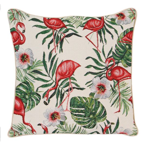 CCOV-FLAM | FLAMINGO PILLOWCASE/CUSHION COVER | DECORATIVE DESIGN FASHION HOME PILLOW 18X18 INCH - www.signareusa.com