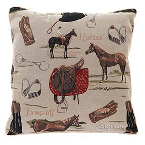 CCOV-HOR | HORSE PILLOWCASE/CUSHION COVER | DECORATIVE DESIGN FASHION HOME PILLOW 18X18 INCH - www.signareusa.com