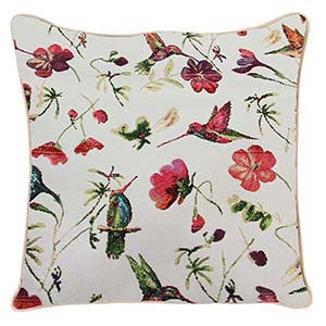 CCOV-HUMM | HUMMINGBIRD PILLOWCASE/CUSHION COVER | DECORATIVE DESIGN FASHION HOME PILLOW 18X18 INCH - www.signareusa.com