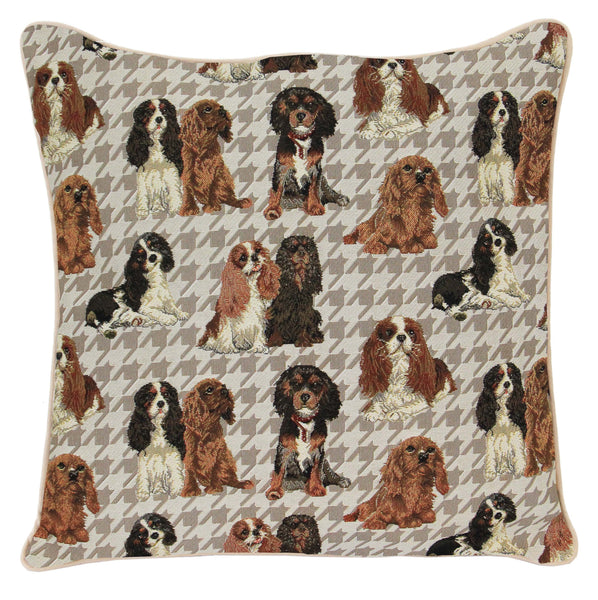 CCOV-KGCS | KING CHARLES CAVALIER SPANIEL PILLOWCASE/CUSHION COVER | DECORATIVE DESIGN FASHION HOME PILLOW 18X18 INCH - www.signareusa.com