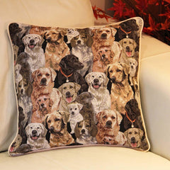 CCOV-LAB | LABRADOR PILLOWCASE/CUSHION COVER | DECORATIVE DESIGN FASHION HOME PILLOW 18X18 INCH - www.signareusa.com