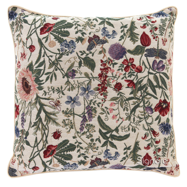 CCOV-MGD | MORNING GARDEN PILLOWCASE/CUSHION COVER | DECORATIVE DESIGN FASHION HOME PILLOW 18X18 INCH - www.signareusa.com