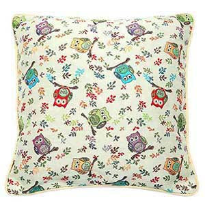 CCOV-OWL | OWL PILLOWCASE/CUSHION COVER | DECORATIVE DESIGN FASHION HOME PILLOW 18X18 INCH - www.signareusa.com