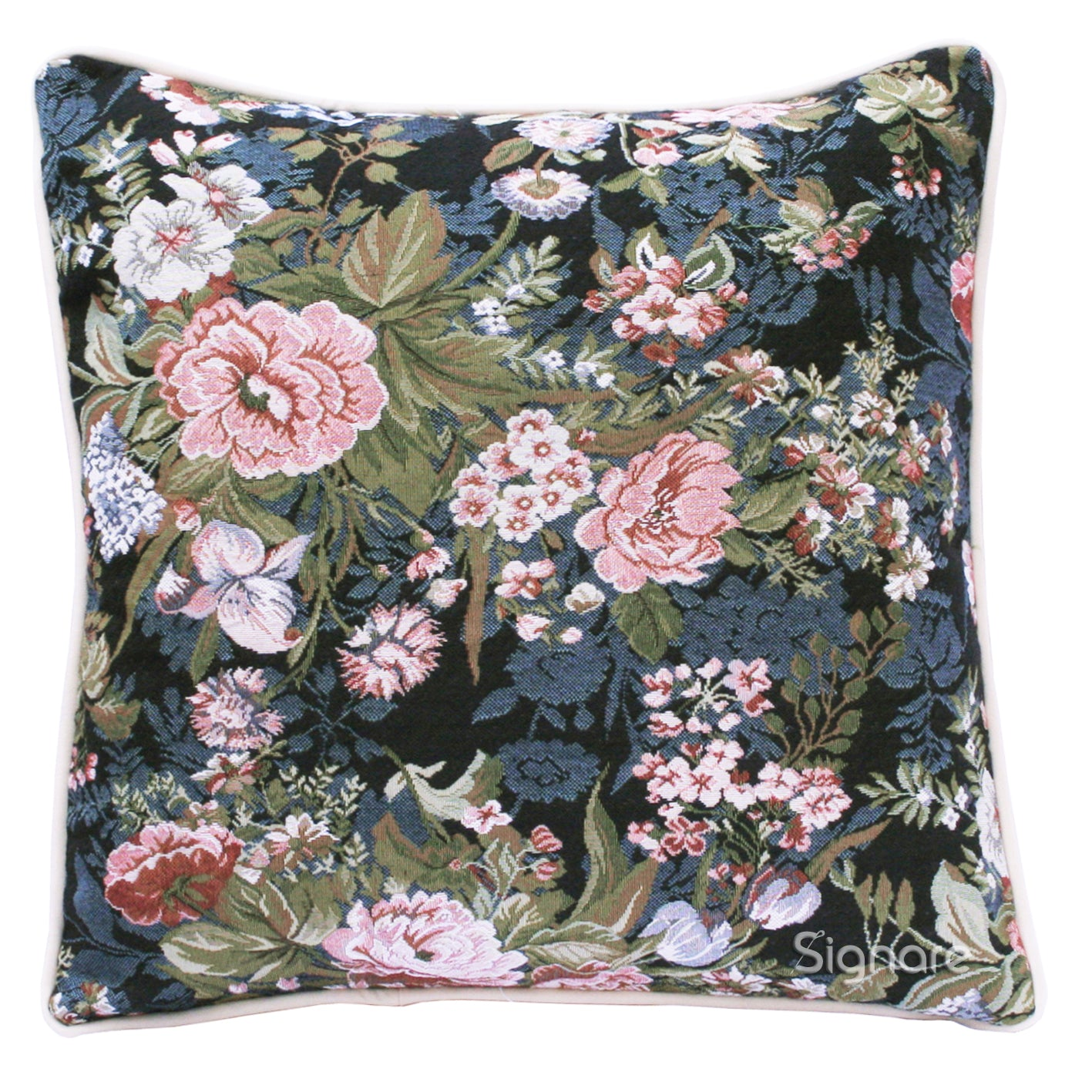 CCOV-PEO | PEONY PILLOWCASE/CUSHION COVER | DECORATIVE DESIGN FASHION HOME PILLOW 18X18 INCH - www.signareusa.com