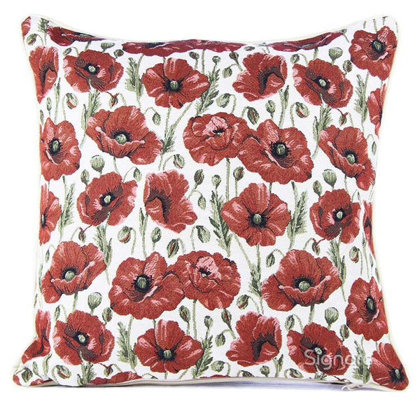CCOV-POP | POPPY PILLOWCASE/CUSHION COVER | DECORATIVE DESIGN FASHION HOME PILLOW 18X18 INCH - www.signareusa.com