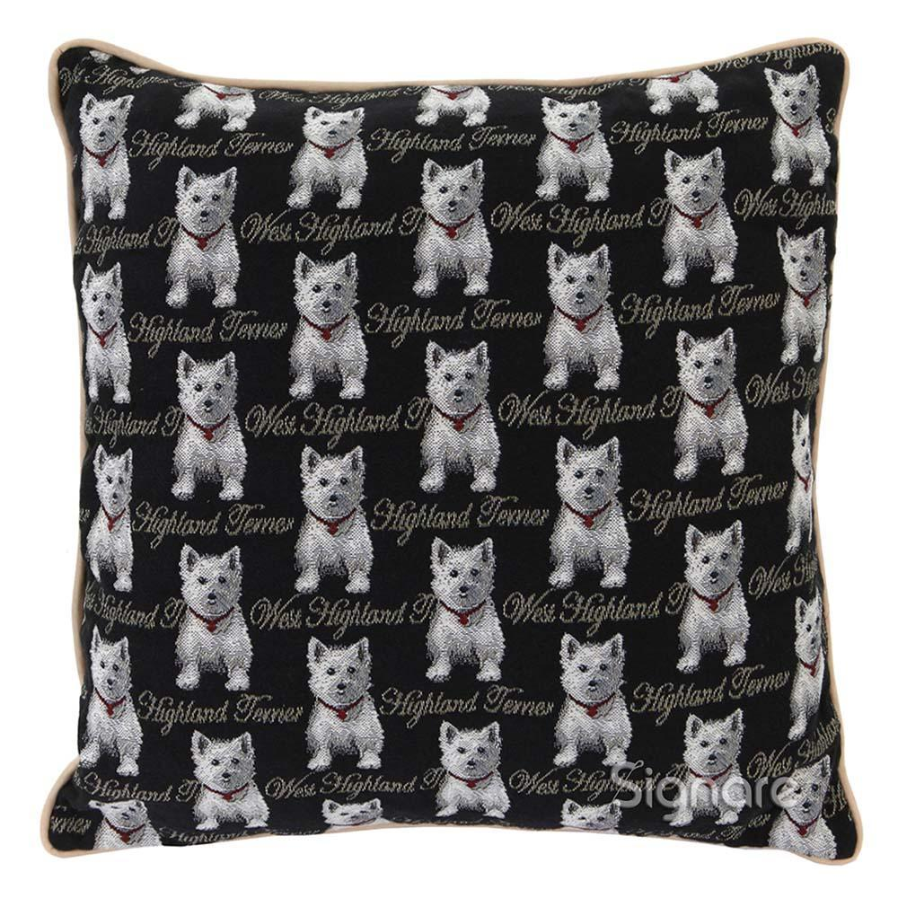 CCOV-WES | WESTIE DOG PILLOWCASE/CUSHION COVER | DECORATIVE DESIGN FASHION HOME PILLOW 18X18 INCH - www.signareusa.com