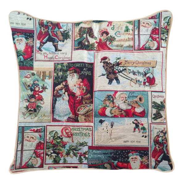 CCOV-XMAS-FATHER | XMAS SANTA PILLOWCASE CUSHION COVER 18X18 INCH