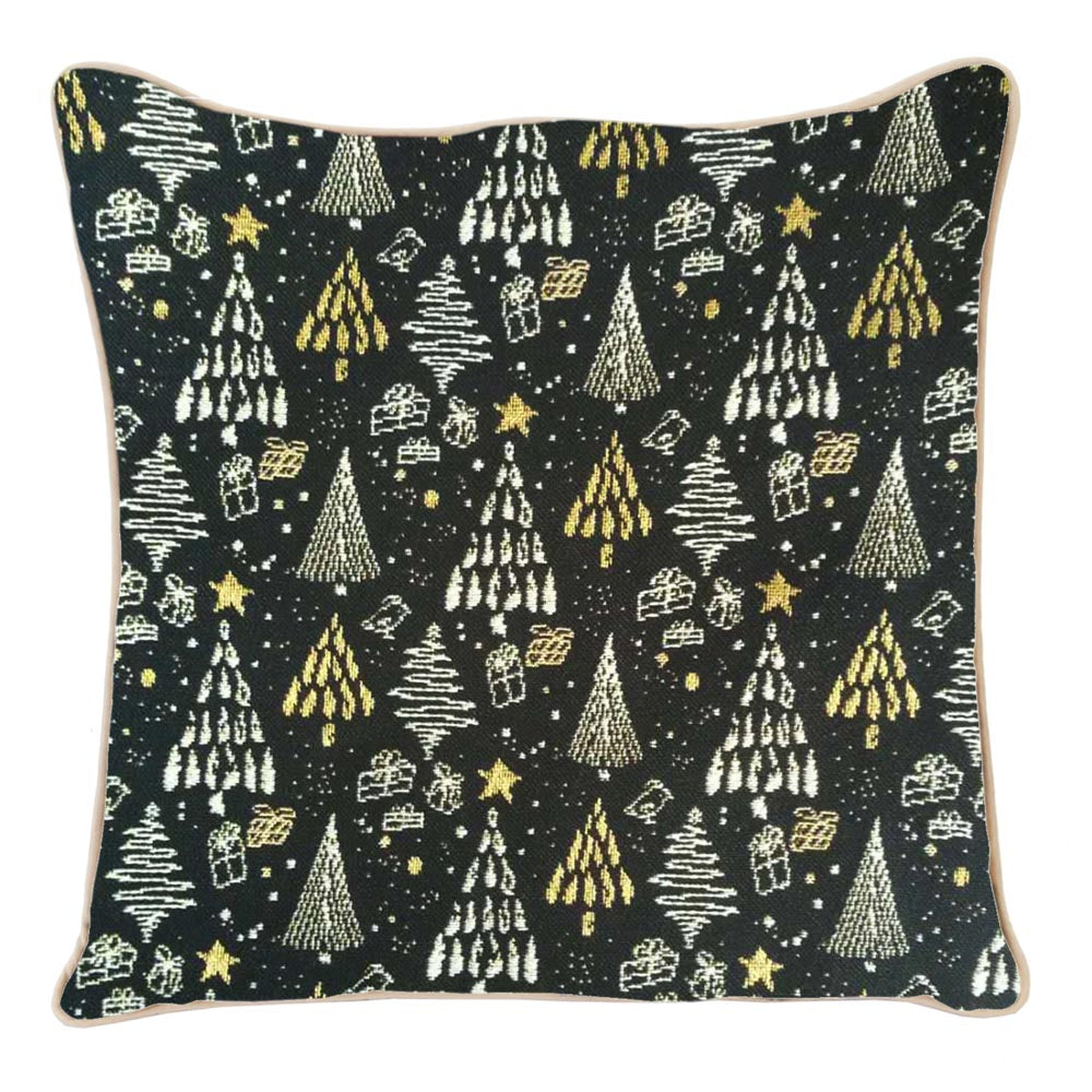 CCOV-XMAS-TREE | XMAS TREE PILLOWCASE CUSHION COVER 18X18 INCH