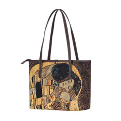 COLL-ART-GK-GDKS | Gold Kiss by Gustav Klimt College/Shoulder Tote Bag - www.signareusa.com