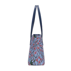 COLL-BLOS | Almond Blossom And Swallow College/Shoulder Tote Bag - www.signareusa.com