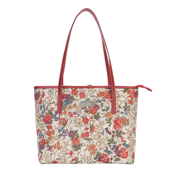 COLL-FLMD | Flower Meadow College/Shoulder Tote Bag - www.signareusa.com