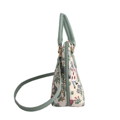 CONV-ALICE | Charles Voysey Alice in Wonderland Convertible Top Handle Purse Handbag - www.signareusa.com
