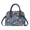 CONV-AUST | Jane Austen's Blue Convertible Top Handle Purse Handbag - www.signareusa.com