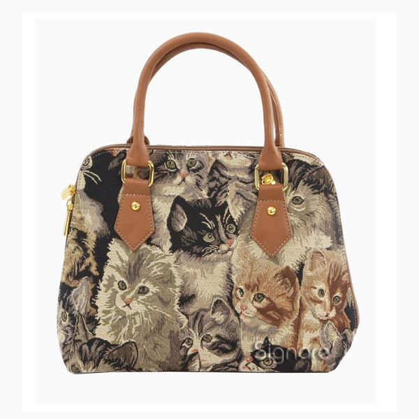 CONV-CAT | Cat Convertible Top Handle Purse Handbag - www.signareusa.com