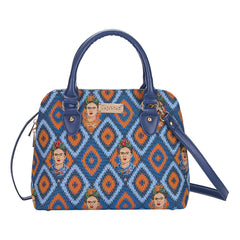 CONV-FKICON | Frida Kahlo Convertible Top Handle Purse Handbag