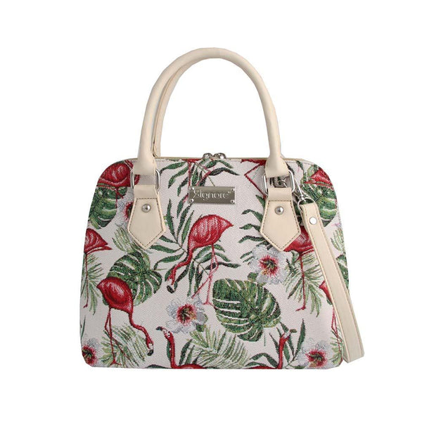 CONV-FLAM | Flamingo Convertible Top Handle Purse Handbag - www.signareusa.com