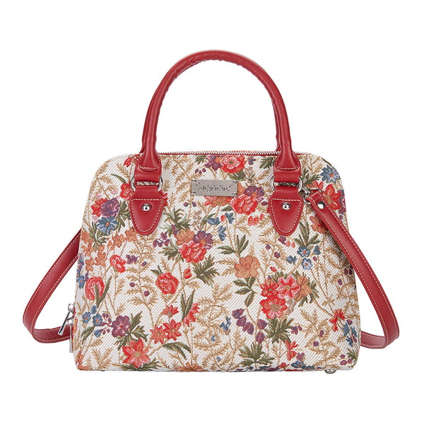 CONV-FLMD | Flower Meadow Convertible Top Handle Purse Handbag - www.signareusa.com