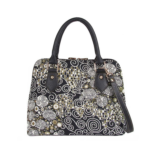 CONV-KISS | Gustav Klimt The Kiss Convertible Top Handle Purse Handbag - www.signareusa.com