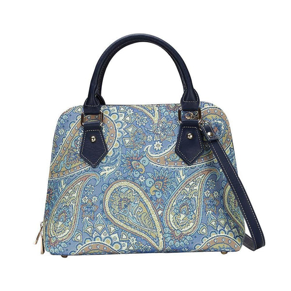 CONV-PAIS | Paisley Convertible Top Handle Purse Handbag - www.signareusa.com